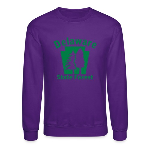 Delaware State Forest Keystone (w/trees) - Crewneck Sweatshirt