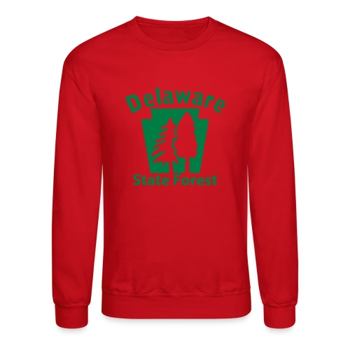 Delaware State Forest Keystone (w/trees) - Unisex Crewneck Sweatshirt