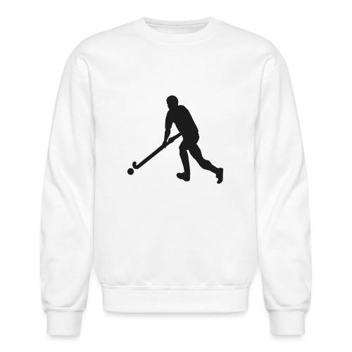 FieldHockeyMaleSilhouette - Crewneck Sweatshirt