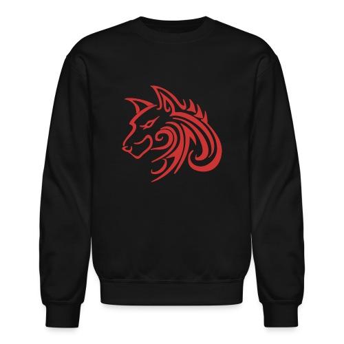 3d31c4ec40ea67a81bf38dcb3d4eeef4 wolf 1 red wolf c - Crewneck Sweatshirt