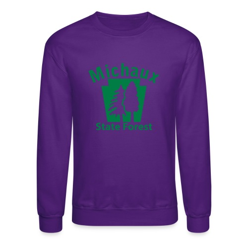Michaux State Forest Keystone (w/trees) - Crewneck Sweatshirt