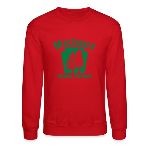 Michaux State Forest Keystone (w/trees) - Crewneck Sweatshirt