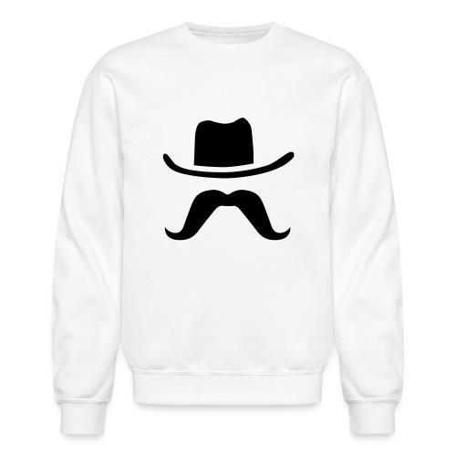 Hat & Mustache - Unisex Crewneck Sweatshirt