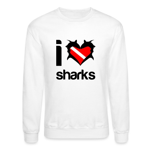 I Love Sharks - Unisex Crewneck Sweatshirt
