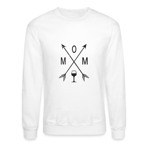 Mom Loves Wine (black ink) - Crewneck Sweatshirt