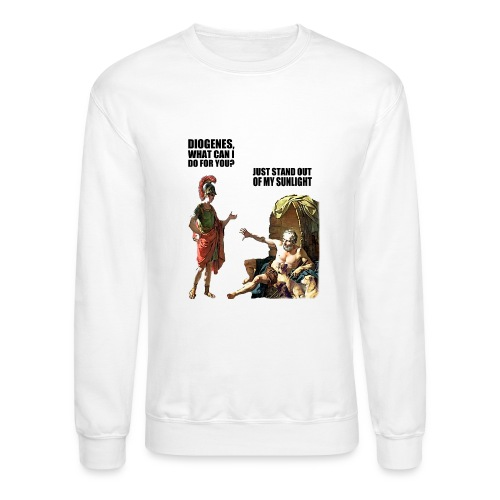 hlalexander and diogene2 black - Crewneck Sweatshirt