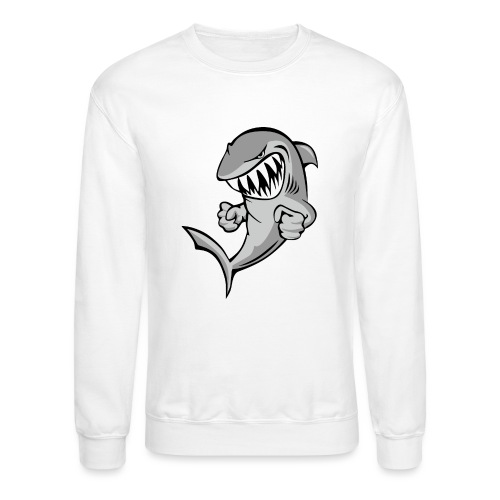 Shark With Attitude Cartoon - Crewneck Sweatshirt