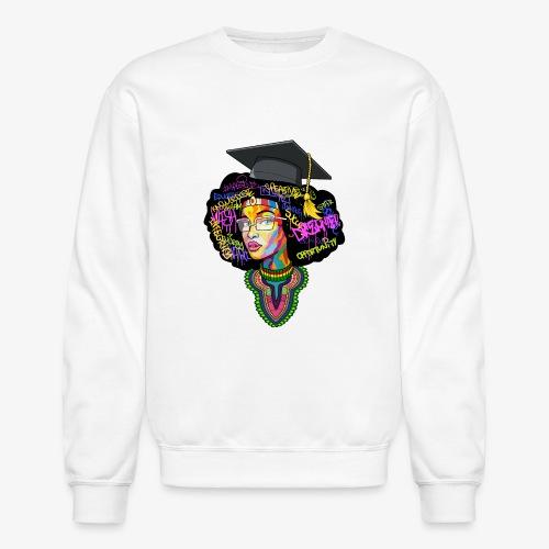 Melanin Women Afro Education - Unisex Crewneck Sweatshirt