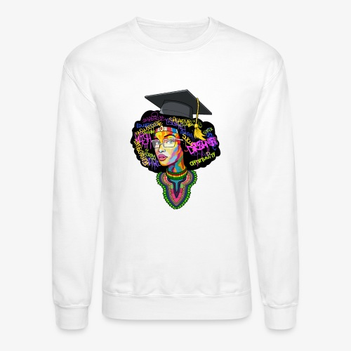 Black Educated Queen School - Crewneck Sweatshirt