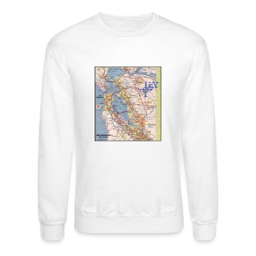 Phillips 66 Zodiac Killer Map June 26 - Crewneck Sweatshirt