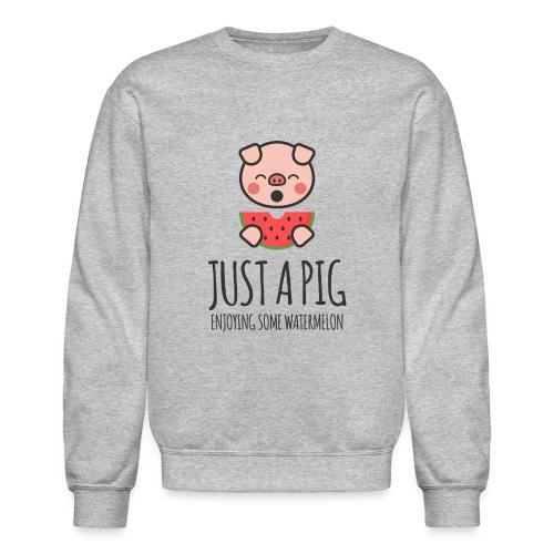 Just A Pig Enjoying Some Watermelon - Crewneck Sweatshirt