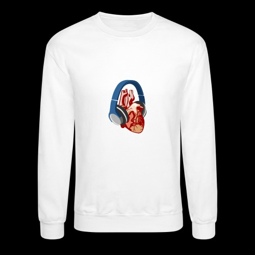 Heartbeats for Music Headphones - Crewneck Sweatshirt