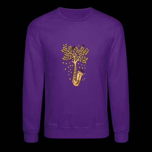 Saxophone Tree of Song Birds - Crewneck Sweatshirt