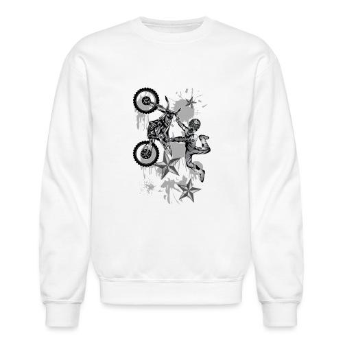 Star Splattered Dirt Biker - Crewneck Sweatshirt