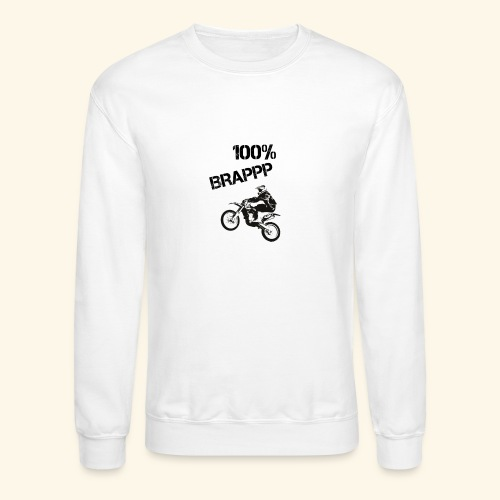 100% BRAPPP (Black and White) - Crewneck Sweatshirt