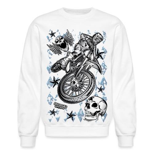 Motocross Dirt Bike Grunge Shirt - Crewneck Sweatshirt