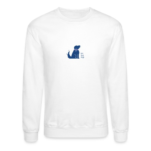 Saving Korean Mutts Project-blue dog - Unisex Crewneck Sweatshirt