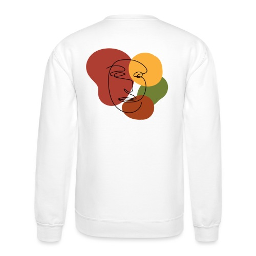 abstract minimalist face - Unisex Crewneck Sweatshirt