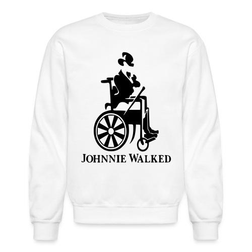 Johnnie Walked, Wheelchair fun, whiskey and roller - Unisex Crewneck Sweatshirt