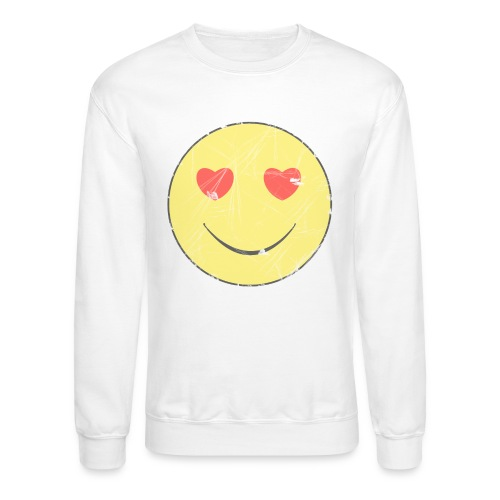 smiley face in love - Unisex Crewneck Sweatshirt