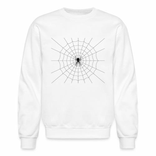 Black Widow on Web - Unisex Crewneck Sweatshirt