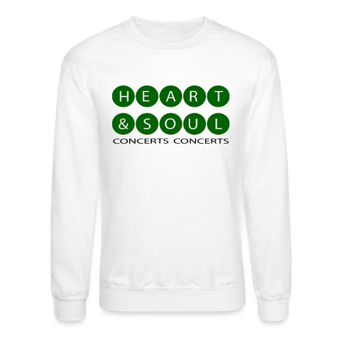 Heart & Soul Concerts green/ white bubble Horizon - Unisex Crewneck Sweatshirt