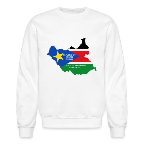 south sudan 10th years anniversary - Unisex Crewneck Sweatshirt