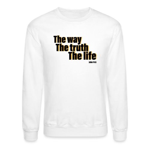 He is The way the truth the life logo - Unisex Crewneck Sweatshirt