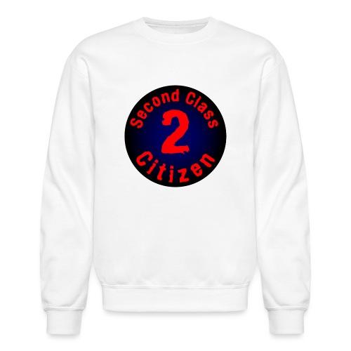2nd Class Citizen Logo (Dark) - Unisex Crewneck Sweatshirt