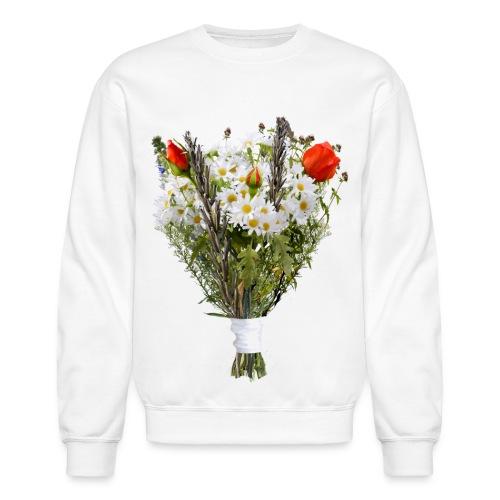 a bouquet of flowers - Unisex Crewneck Sweatshirt