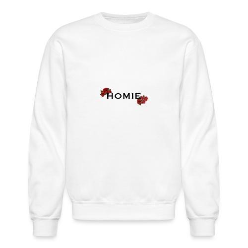 HOMIE ROSE BLKFONT - Unisex Crewneck Sweatshirt