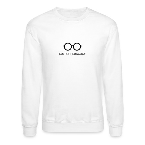 Cult of Pedagogy (black text) - Unisex Crewneck Sweatshirt
