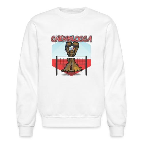 Chewblocca Volleyball Team Logo - Unisex Crewneck Sweatshirt