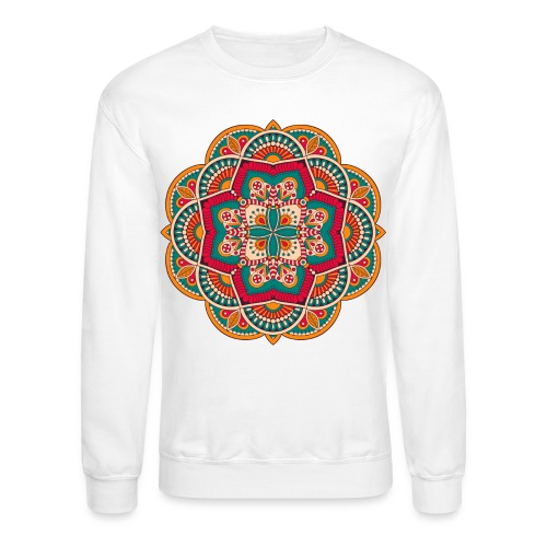 Yoga Mandala Design Shirt & Accessories - Crewneck Sweatshirt