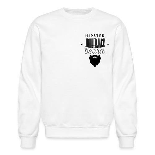 hipster lumberjack beard - Crewneck Sweatshirt