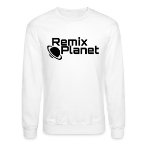 RemixPlanet Black Logo - Crewneck Sweatshirt