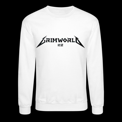 BLACK GRIMWORLD ON COKE WHITE - Crewneck Sweatshirt