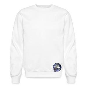 White Antdog Vlogs Sweatshirt - Crewneck Sweatshirt