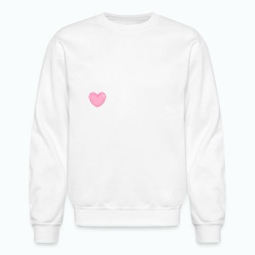 pink heart - Crewneck Sweatshirt