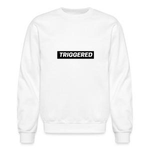 Black Triggered Logo on White Sweatshirt - Crewneck Sweatshirt