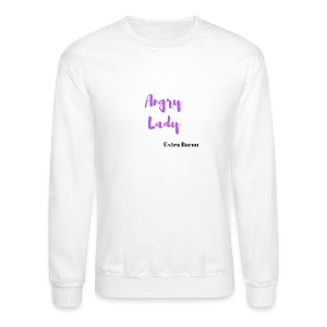 angry lady extra bacon (American Housewife quotes) - Crewneck Sweatshirt