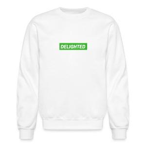 Delighted Logo on White Sweatshirt - Crewneck Sweatshirt