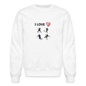 Geek T-shirt I love soccer - Crewneck Sweatshirt