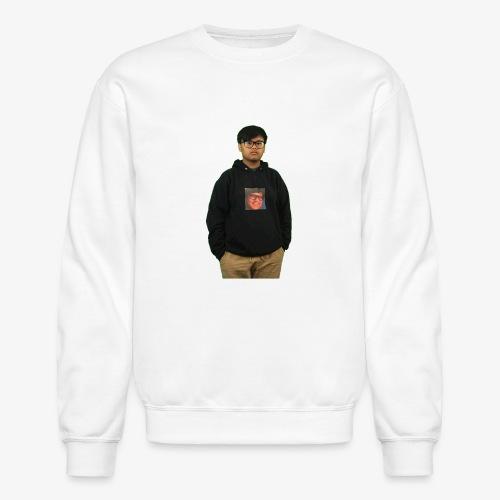 me wearing a hoodie of me - Crewneck Sweatshirt