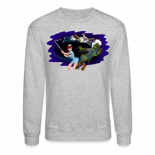 Nurse Zombie Fight - Crewneck Sweatshirt