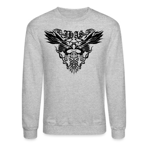 Vintage JHAS Tribal Skull Wings Illustration - Crewneck Sweatshirt