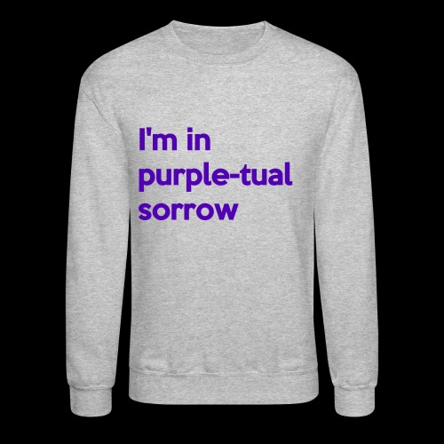 Purple-tual sorrow - Crewneck Sweatshirt