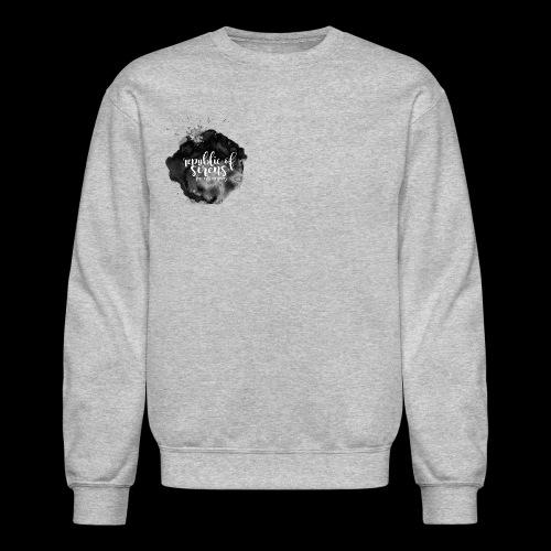 ROS FINE ARTS COMPANY - Black Aqua - Unisex Crewneck Sweatshirt