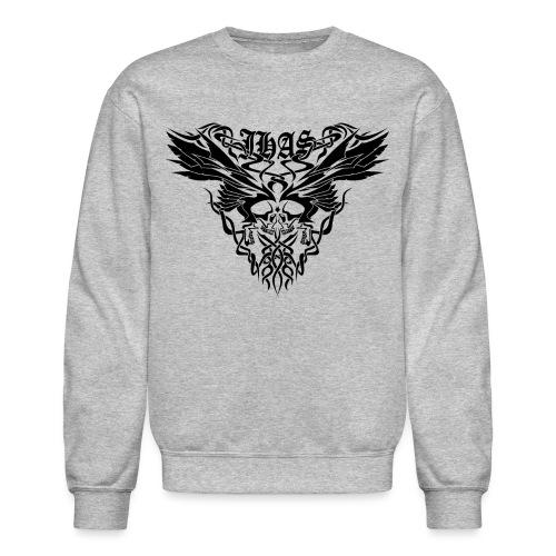 Vintage JHAS Tribal Skull Wings Illustration - Crewneck Sweatshirt