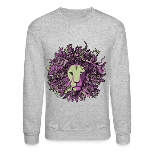 Purple and Green Lion - Crewneck Sweatshirt